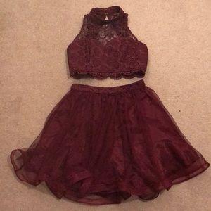 2 piece prom/homecoming dress, size 5 juniors